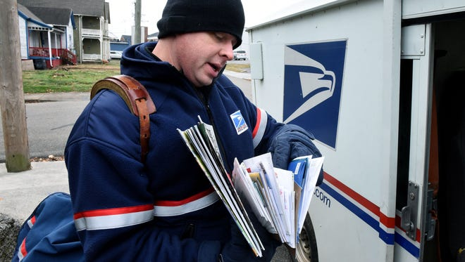A postal worker photographed in January in Kentucky.
