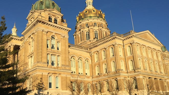 The southeast side of the Iowa Capitol in Des Moines.