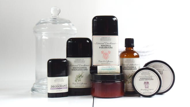 The overwhelming majority of American Provenance revenues come from deodorant sales. The company also sells aftershave, beard balm, pomade, lip balm and candles.