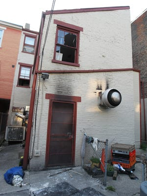 The back of Tucker's Restaurant in Over-the-Rhine was damaged by a fire Monday night.