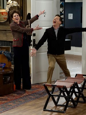 In the new 'Will & Grace,' Megan Mullally returns as Karen Walker, with Sean Hayes by her side as Jack McFarland.