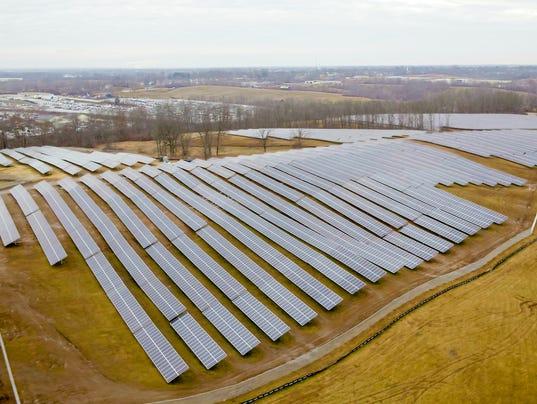 Green Energy Duke Solar Panels Dot 60 Football Fields Of