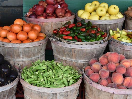 Fresh vegetables await purchase at Brenda's Produce
