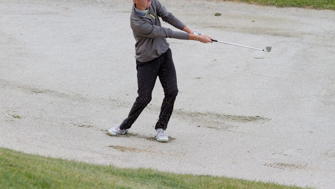 Despite windy conditions, Pine View's Noah Schone finished with a 1-under par 71 at Soldier Hollow Wednesday during the first round of the 3A State Tournament.