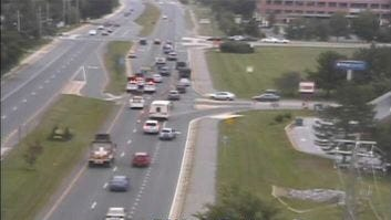 A crash has closed Del. 4 eastbound at Harmony Road, DelDOT says.