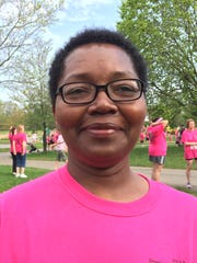 Stacey Moreland, 50, of Rochester finally felt well enough to participate in the Breast Cancer Coalition of Rochester Pink Ribbon Run & Family Fitness Walk since her diagnosis in 2013. She is now cancer free and two sisters and a friend joined her on the walk.