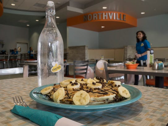 Funky Monkey pancakes come with chocolate chips and