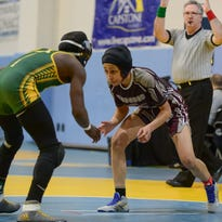 Breaking new ground: Hodgson's Austin is state wrestling tourney's first female qualifier