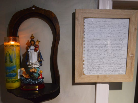 The letter is now framed and on display at El Ambia