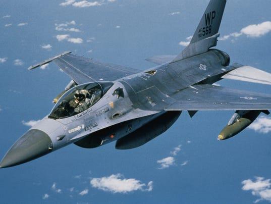 F-16 in flight