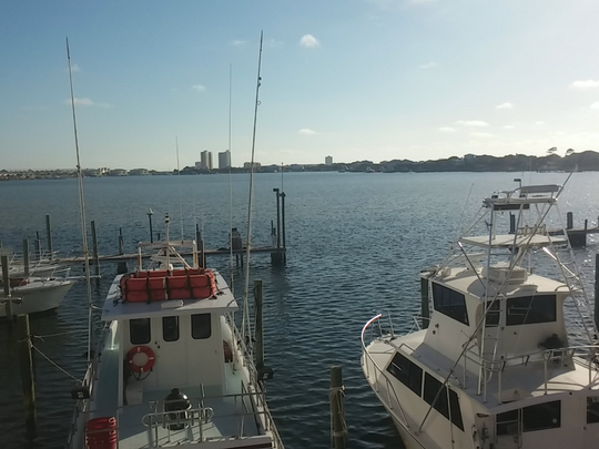 View of the Pensacola Beach Marina.