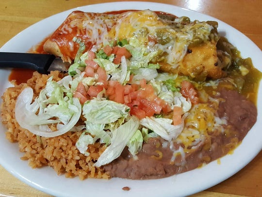 The chimichanga ($8.89) at Chilitos Restaurant, 2405 S. Valley Drive.