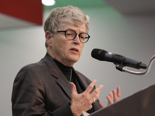 Michigan State University President Lou Anna Simon.