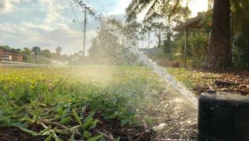 Running irrigation system.