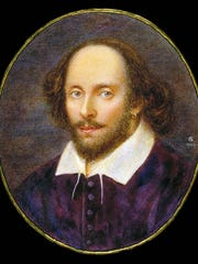 This is a portrait of Shakespeare. This is the 400th