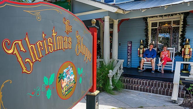 Dan and Kathy McBride own the Funky Pelican Christmas Shoppe on San Marco Boulevard in St. Augustine. The McBrides' business has been helped by a $10,000 grant from the federal government for Coronavirus relief.