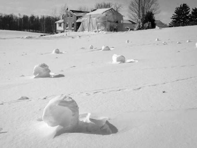North Central Ohio residents awoke to a rare phenomenon called snow rollers on Jan. 28.