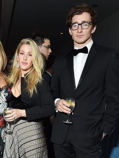 Singer Ellie Goulding and her boyfriend Caspar Jopling