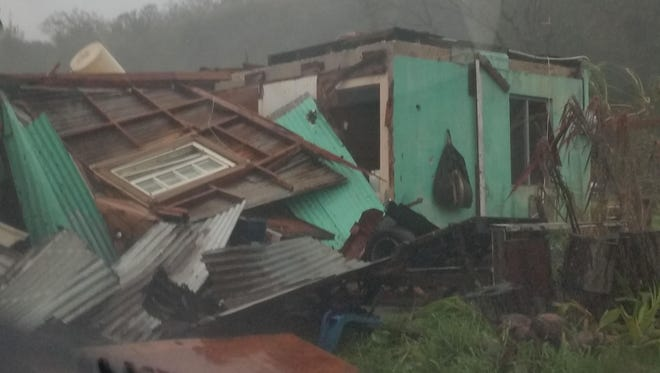 Typhoon Dolphin caused damage to Rota homes and schools, and left residents without power.