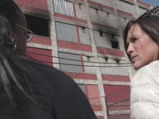 "Wayne County prosecutor Kym Worthy and Mariska Hargitay in ""I Am Evidence."""