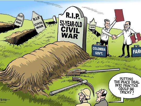 Paresh Nath/The Khaleej Times, UAE, drew this editorial cartoon.