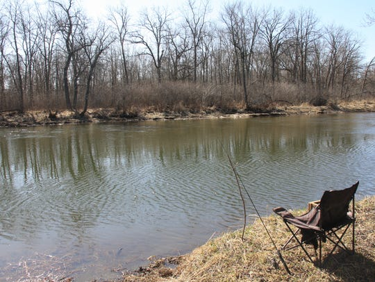 The simplicity of bank fishing has its appeal.