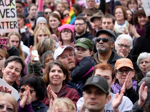 PeopleÕs Solidarity Rally at Washington Square Park.