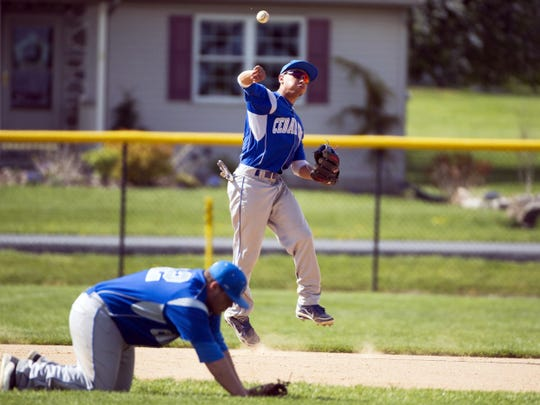 Cedar Crest shortstop Iziah Trimble is back to end his high school career on a high note as the Falcons take flight this spring under new head coach Josh Brown.