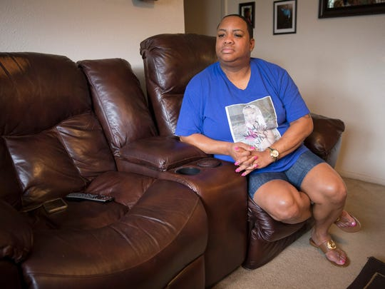Carla Dean, mother of Ashley Nicole Metz,  in Lafayette Tuesday, July 11,  2017. Metz was killed in June 2016, in a car fire, without a clear motive.