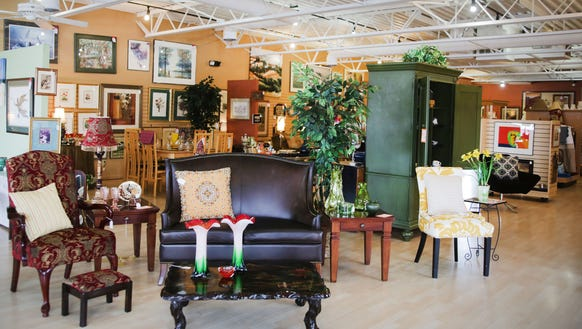 This is a look in Designer Consignor, a resale furniture - 3 Great Places To Find Used Furniture In Metro Detroit