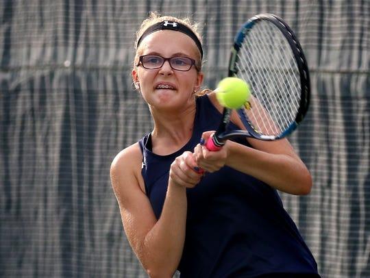 Whitnall's Jenna Dundas plays second singles against