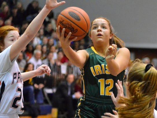 York Catholic girls' basketball standout Kate Bauhof has not played yet this season because of a knee injury. YORK DISPATCH FILE PHOTO