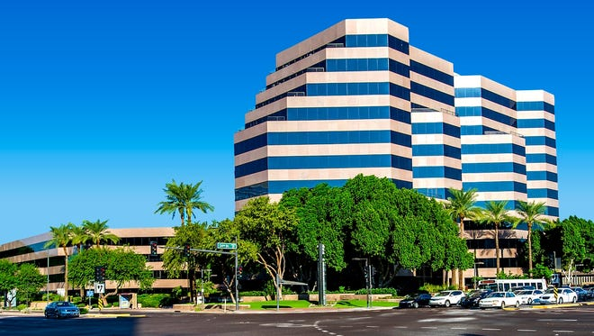 The Biltmore Financial Center, at 24th Street and Camelback Road in Phoenix.