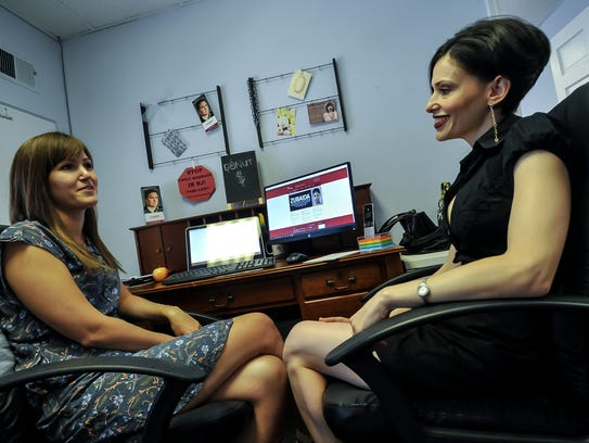 Fraidy Reiss, (right), founder of Unchained at Last,