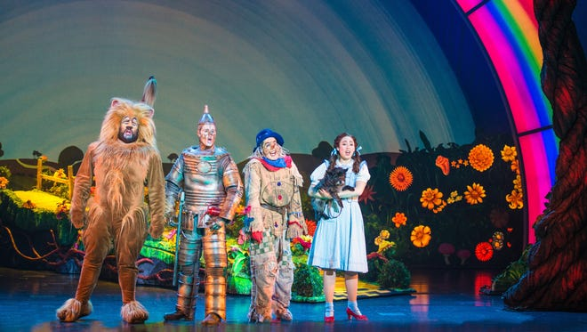 "Aaron Fried, Jay McGill, Morgan Reynolds and Sarah Lasko star in the national tour of ""The Wizard of Oz,"" which runs Dec. 15-20 at the Des Moines Civic Center."