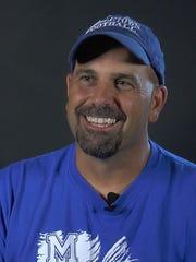Middletown football coach Mark DelPercio