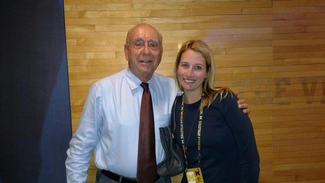 Dick Vitale, left, and Tammi Carr