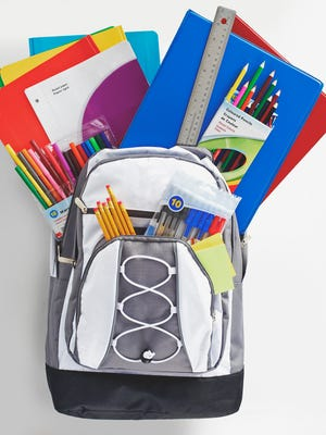 Group of school supplies for students