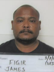 James Figir, 36, was charged with second-degree criminal