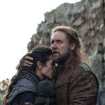 """This image released by Paramount Pictures shows Jennifer Connelly, left, and Russell Crowe in a scene from """"Noah."""""""
