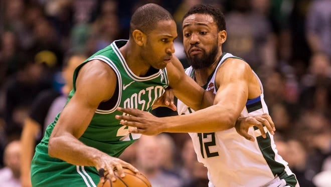 Celtics forward Al Horford and Bucks forward Jabari Parker will battle in a first-round NBA playoff series that begins Sunday.