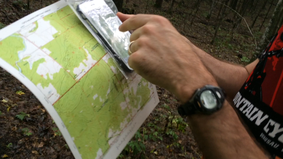 Tim Buchholz used a topo map and a cell phone app to