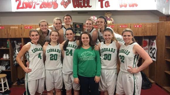 The Mountain Heritage girls basketball team.