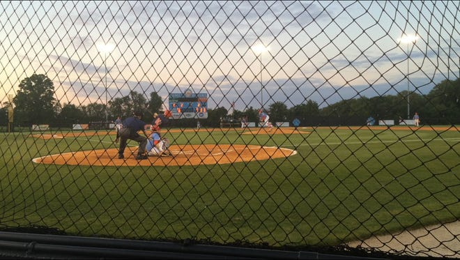 USJ's baseball team beat Tipton-Rosemark 10-0 in five innings to secure first in the district Monday.