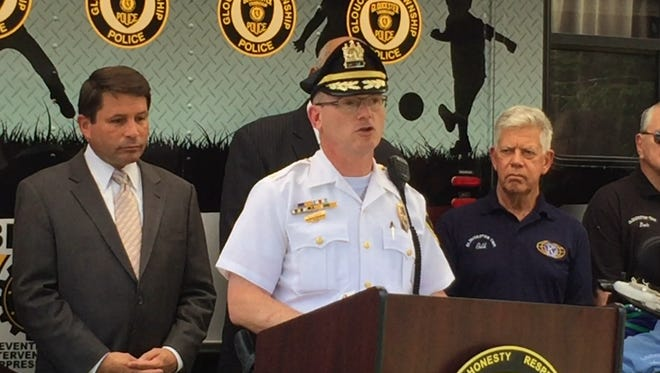 Gloucester Township Police Chief Harry Earle announced new community policing efforts and the launch of the department's body-camera program on Monday.