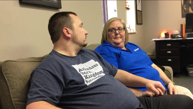 Local couple Abbye and Marty Wages prepare for the Villages Foster Care of Evansville class to become foster parents.