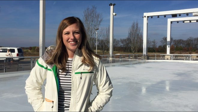 Sherri Dasilva with Hearthstone Properties, development company for Fountains at Gateway, said the company developed the idea for an ice skating rink to give families a reason to be there during winter months.
