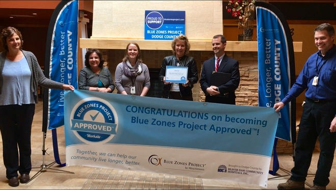 Blue Zones Project Dodge County held a ribbon cutting celebration April 25 for Clearview Health Facility, the newest worksite to become Blue Zones Project approved.