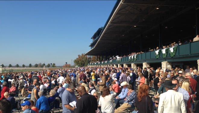 Crowds at Keeneland Race Course on Oct. 24, 2014