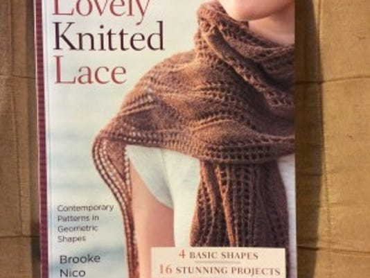 "Brooke Nico has a new book, ""More lovely knitted lace"";"